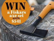 Win a Fiskars axe set