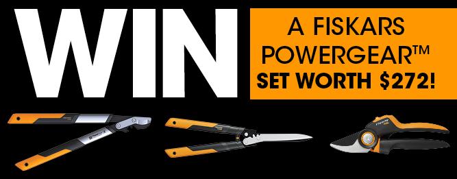WIN a Fiskars PowergearX™ set worth $272!