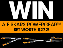 WIN a Fiskars PowergearX™ set worth $272!