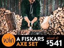 Win a Fiskars axe set