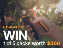 WIN A Fiskars PowerGear™X Pruning Pack worth $260