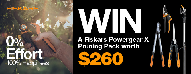 WIN A Fiskars PowerGear™X Pruning Pack worth $260