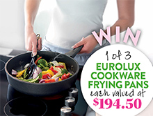 Win a Eurolux Cookware frying pan